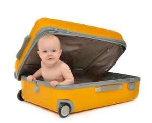 luggage for flying with babies