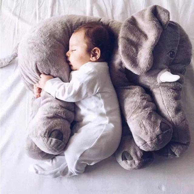 baby elephant sleep pillow grey