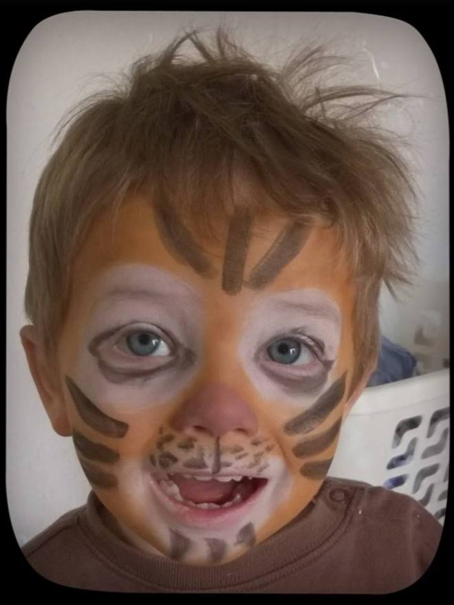 maquillage tigre avec maquillage bio namaki test baby no soucy