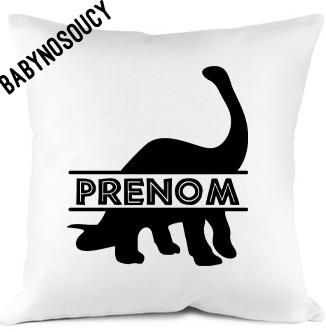 coussin prenom dinosaure 1 baby no soucy