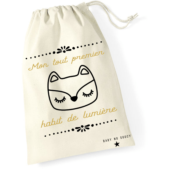 sac tenue de naissance renard baby no soucy