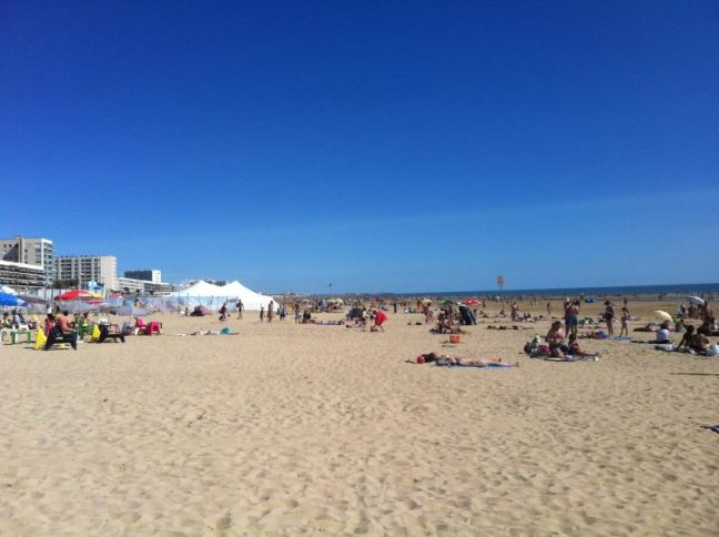 The beautiful beach at St Jean De Monts where we spent most of our time