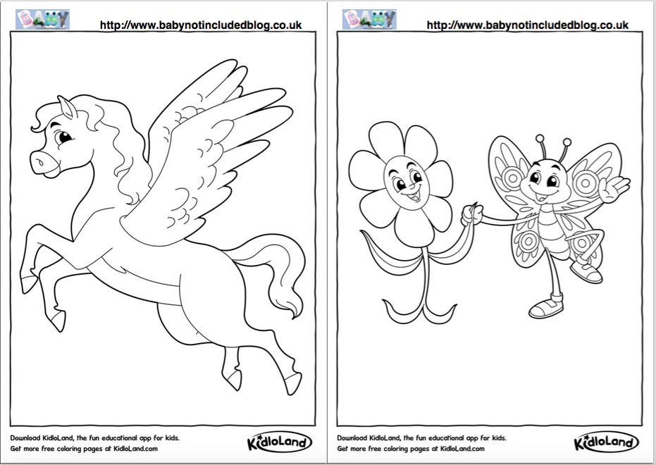 Kidloland Colouring book Generator