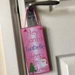 Let Santa Know Where You Sleep With A Hey Santa Door Hanger