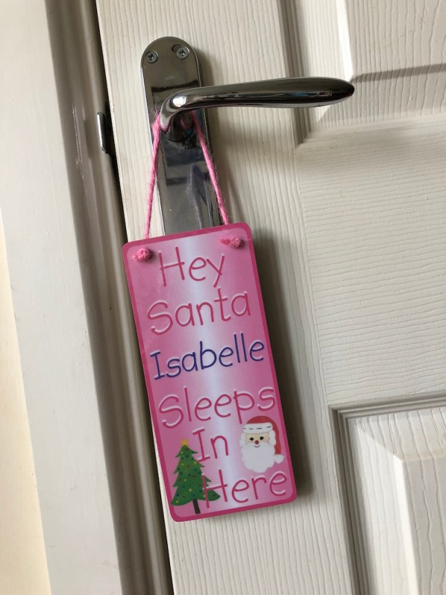Hey Santa Hanging Door Hanger