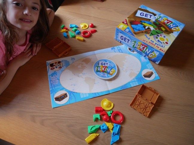 Blogger Board Game Club - Today we're reviewing the game Get Packing where you have to get a set number of objects into your suitcase and be able to close it in the quickest time. Suitable from age 6
