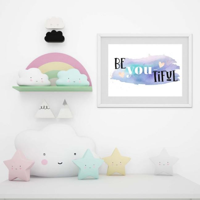 Be-You_tiful Art Wall Print