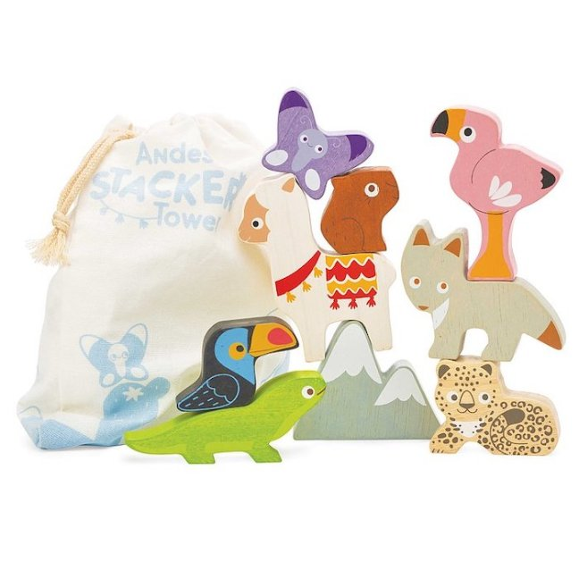 Le Toy Van Wooden Animal Stacking Set