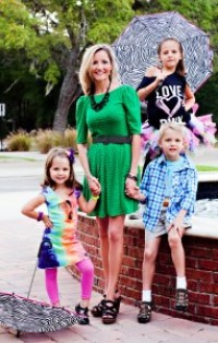 Amy Sweezey and three kids