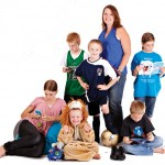 Jennifer Hatcher and her 6 children