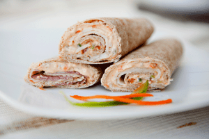 Whole Wheat Tortilla Veggie Roll-ups