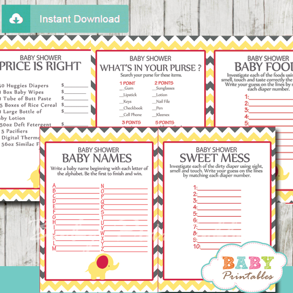 funny baby shower games for large groups
