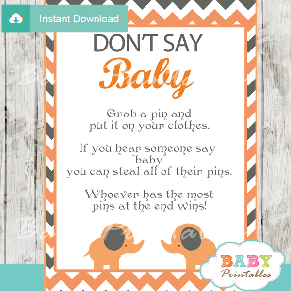 Printable Dont Say Baby Game pdf