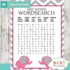 printable baby shower word search puzzles