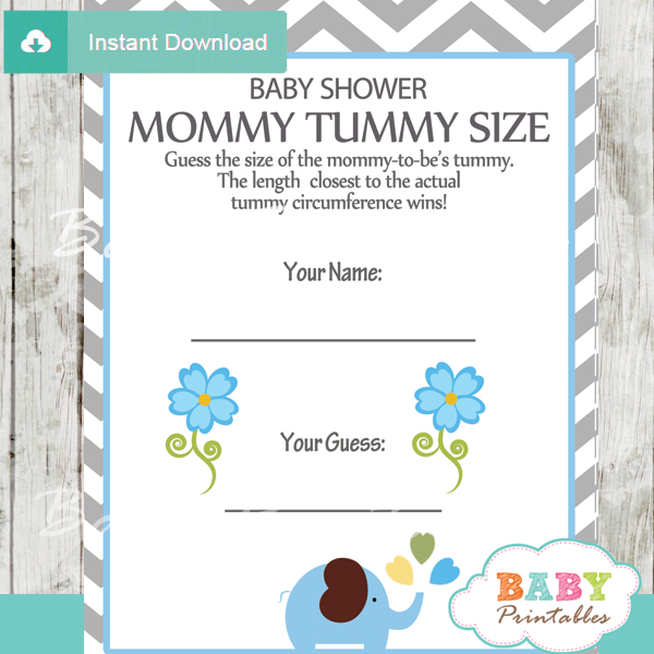 Blue Elephant Baby Shower Games Bundle - D105 - Baby Printables