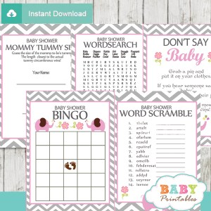 printable elephant baby shower fun games ideas