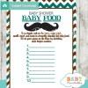 mustache printable baby shower games blind tasting baby food