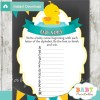 printable rubber ducky Name Race Baby Shower Game