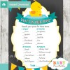 rubber duck printable baby shower games what's in your purse