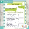 crocodile Price is Right Baby Shower Game printable pdf