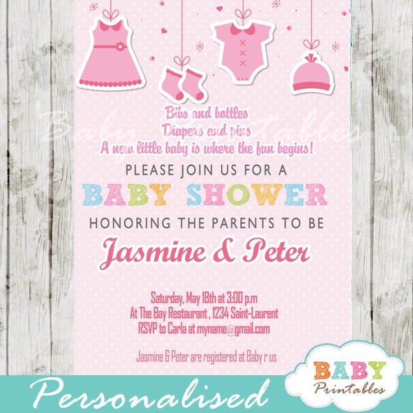 Baby Shower Invitation D150