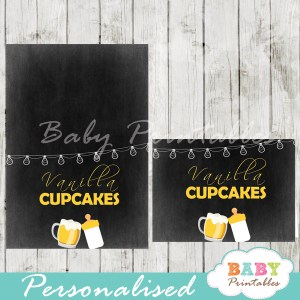 printable baby boy brewing beer food label cards