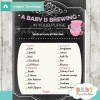tea party themed printable baby shower games what's in your purse