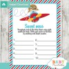 little aviator themed Baby Shower Game What's That Sweet Mess Dirty Diaper Shower Game