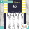 nautical helm baby shower word search game printable puzzles