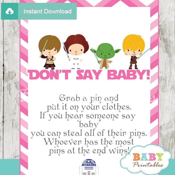 star wars printable game Dont Say Baby pdf