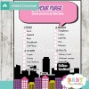 girl comic book what's in your purse baby shower game printable