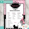 french poodle paris what's in your purse baby shower game printable