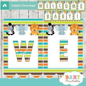 safari baby shower banner