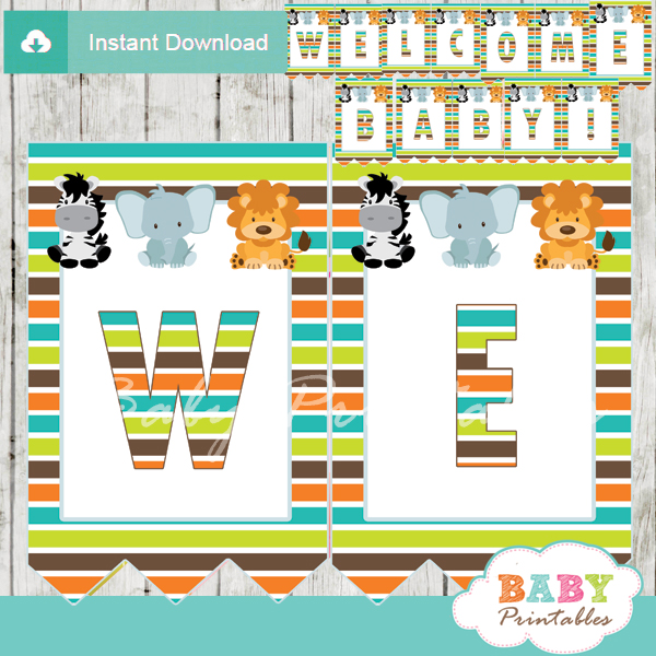 safari baby shower banner