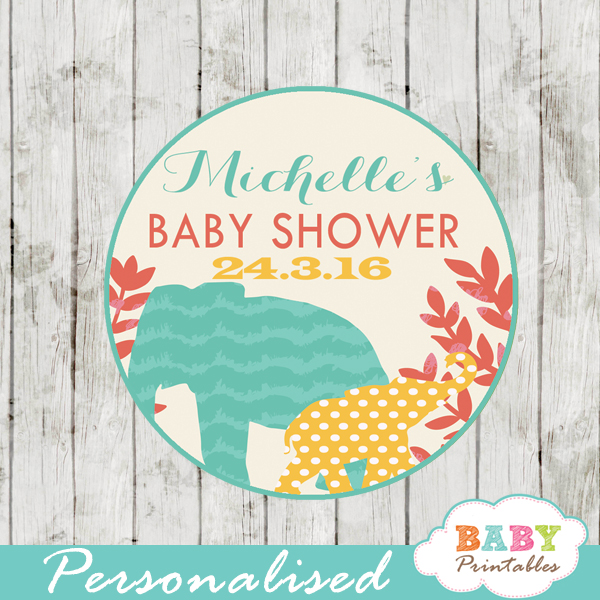 safari favor tags for baby shower