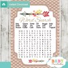 baby shower tribal arrow games word search
