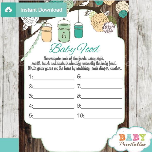 baby shower mason jar games blind tasting baby food