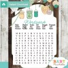 baby shower mason jar games word search