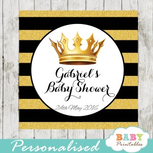 royal themed prince printable baby shower gift tags