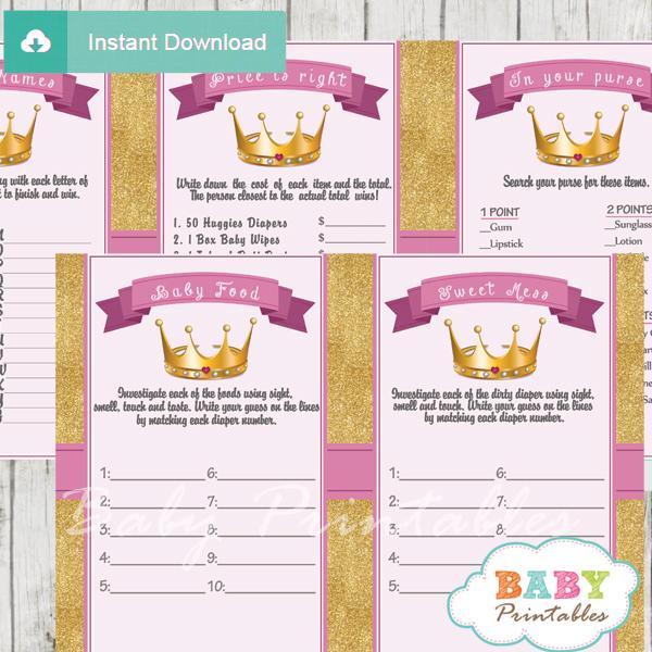 Princess Theme Unique Baby Shower Games