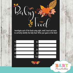 fall pumpkin arrangement autumn baby shower games baby food