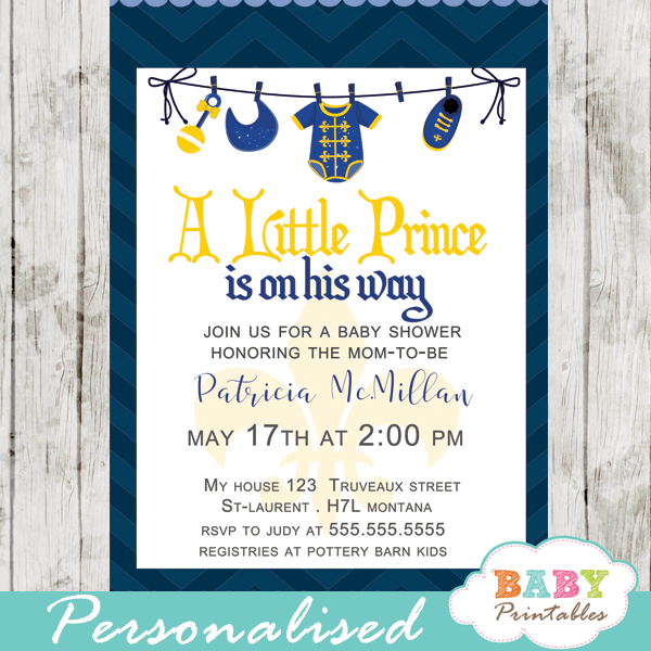 Little prince baby shower invitations royal blue clothesline d275 royal baby shower invitations little prince blue clothesline onesie bib filmwisefo Gallery