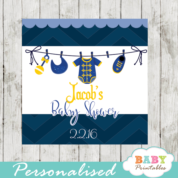 royal blue little prince printable baby shower gift tags