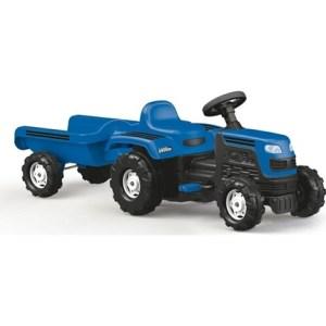 Veliki traktor na pedale sa prikolicom