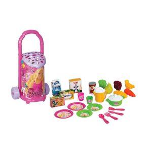 Barbi kolica + sudovi+ namirnice