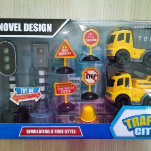 Set gradjevinski kamion sa signalizacijom