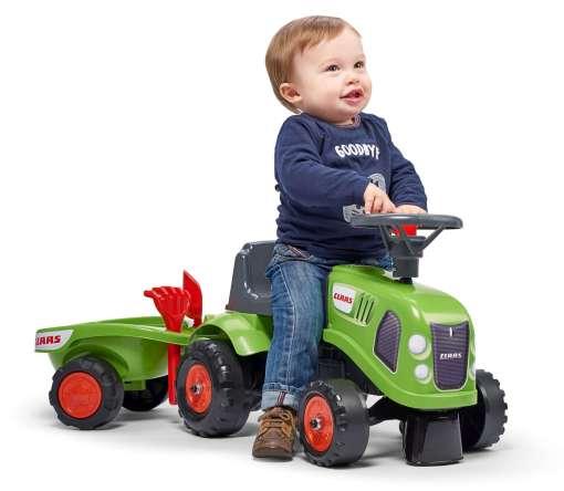 Traktor guralica Claas sa prikolicom