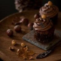 Haselnuss Cupcakes für die dunklen Herbsttage