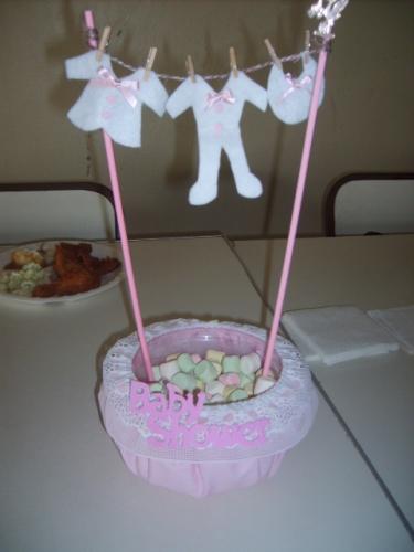 Ideas De Centros De Mesa Para Baby Shower (1/2)