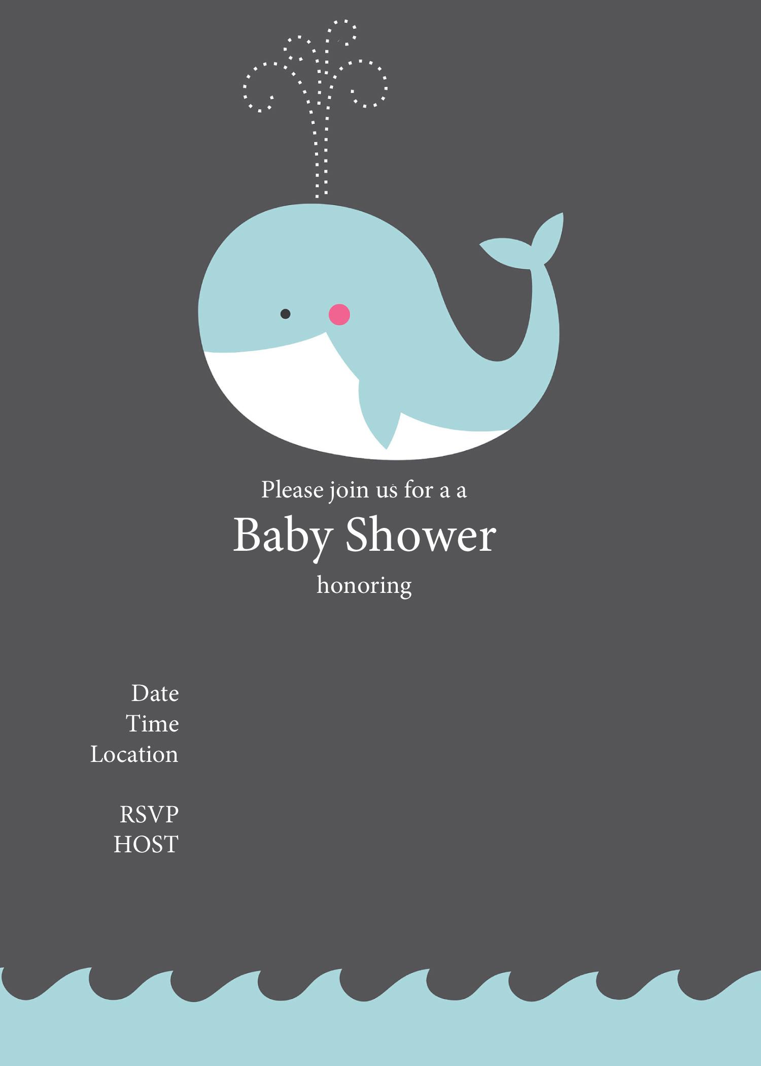 Invitations Shower Editable Baby